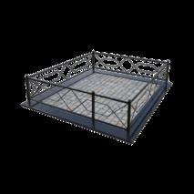 Ограда металлическая м-01