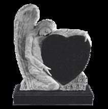 """Элитный памятник """"Ангел и сердце"""""""